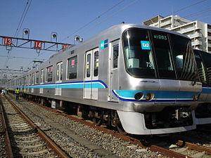 Tokyo Metro 07 series - Tōzai Line 07 series set at Fukagawa Depot, January 2007