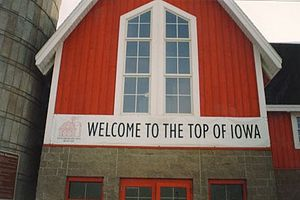 "Interstate 35 in Iowa - ""Top of Iowa"" traveler information center, located off Exit 214"