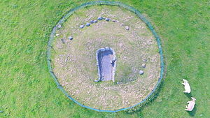 Townleyhall passage grave - Townleyhall Tomb from the air