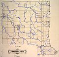 Township of Normanby, Grey County, Ontario, 1880 -- watercourses traced in blue.jpg