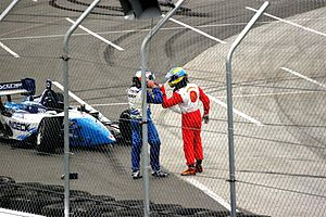 Grand Prix of Denver - Paul Tracy and Sébastien Bourdais in a confrontation at the 2006 Denver Grand Prix.