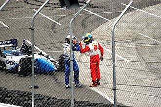 Paul Tracy - Paul Tracy and Sébastien Bourdais in a confrontation at the 2006 Denver Grand Prix