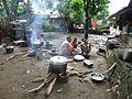 Traditional Sasak Village Sade women cooking.JPG