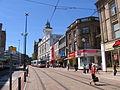 Tram, Sheffield Centre.JPG