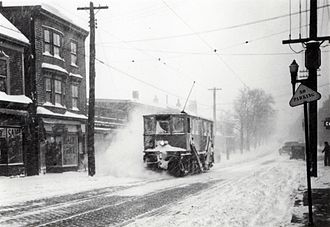 Halifax Transit - Tram with plow attachment, 1930s