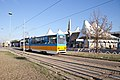 Tram in Sofia in front of Central Railway Station 2012 PD 051.jpg