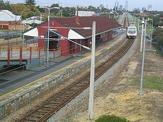Meltham railway station - Image: Transperth Meltham Train Station