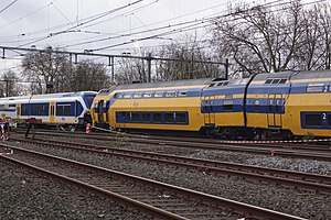 Sloterdijk train collision - The two trains involved in the collision near Westerpark