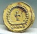Tremisse di teodosio II, 402-450 dc, costantinopoli.jpg