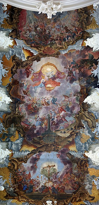 Basilica of St. Paulinus, Trier - Painted ceiling by Christoph Thomas Scheffler