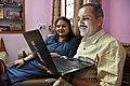 Trishna Basak Observes Speech To Text Conversion In Marathi From Subodh Kulkarni - Kolkata 2020-02-15 3196.JPG