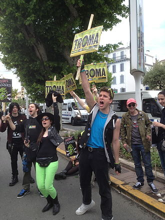 Troma Entertainment - Protesters outside the 2013 Cannes Film Festival, demanding an award for Troma