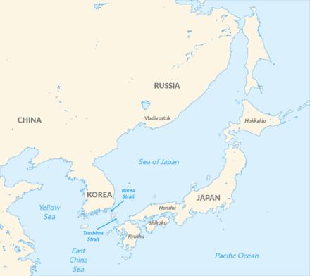 Корейский и Цусимский проливы,