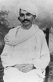 Gandhi in 1915
