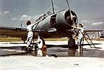 Two WAVES washing a North American SNJ at Naval Air Station Jacksonville, circa 1944 (80-G-K-15001).jpg