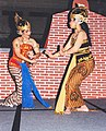 Two dancers with a traditional dance Indonesia.jpg