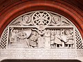 Tympanum from 1950 at the French Protestant Church of London.jpg