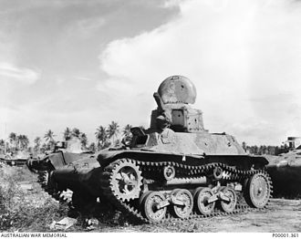 Type 97 Te-Ke tankette - A Type 97 Te-Ke in New Britain in 1945