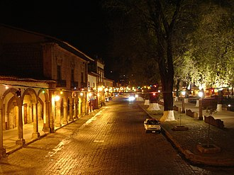 Pátzcuaro - street next to the Plaza Grande