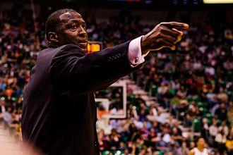 Tyrone Corbin - Tyrone Corbin in Salt Lake City, Utah as the head coach of the Utah Jazz (2013)