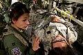 U.S. Air Force Capt. Elizabeth Norte, left, a flight nurse with the 86th Aeromedical Evacuation Squadron, cares for Lt. Col. Bonnie Stiffler, a clinical nurse with the 81st Medical Group acting as a simulated 140313-F-RW714-191.jpg