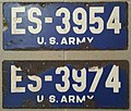 US-Forces-in-Austria USFA license plate US Army ES-3954.jpg