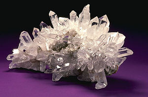 Crystal healing - Quartz crystals are often used in crystal healing
