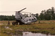 USMC Camp Lejeune-Bermuda Regiment & USMC CH-46 Sea Knight