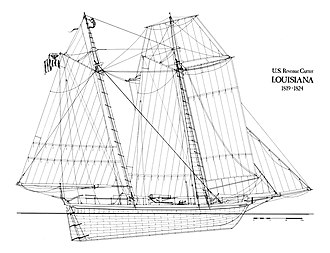New Orleans Squadron - A diagram of the USRC Louisiana.