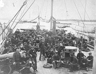 USS Miami (1861) - Crew of the USS Miami, circa 1864