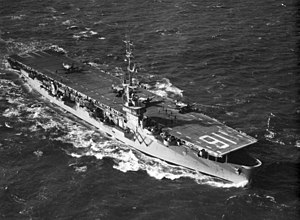 USS Badoeng Strait off coast of Korea in 1952