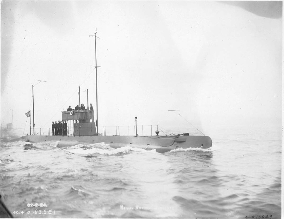 USS E-1, Naval Review, 4 October 1912