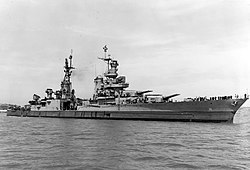 USS Indianapolis (CA-35) off the Mare Island Naval Shipyard on 10 July 1945 (19-N-86911).jpg