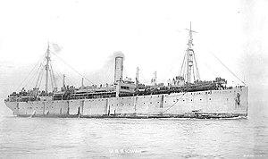 La USS Iowan (ID-3002) è stata vista qui nel 1919 mentre tornava le truppe americane dalla Francia.