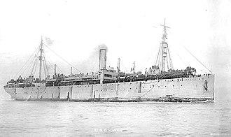 SS Iowan - USS Iowan (ID-3002) is seen here in 1919 returning American troops from France.