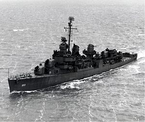 USS John D. Henley (DD-553) underway in 1944