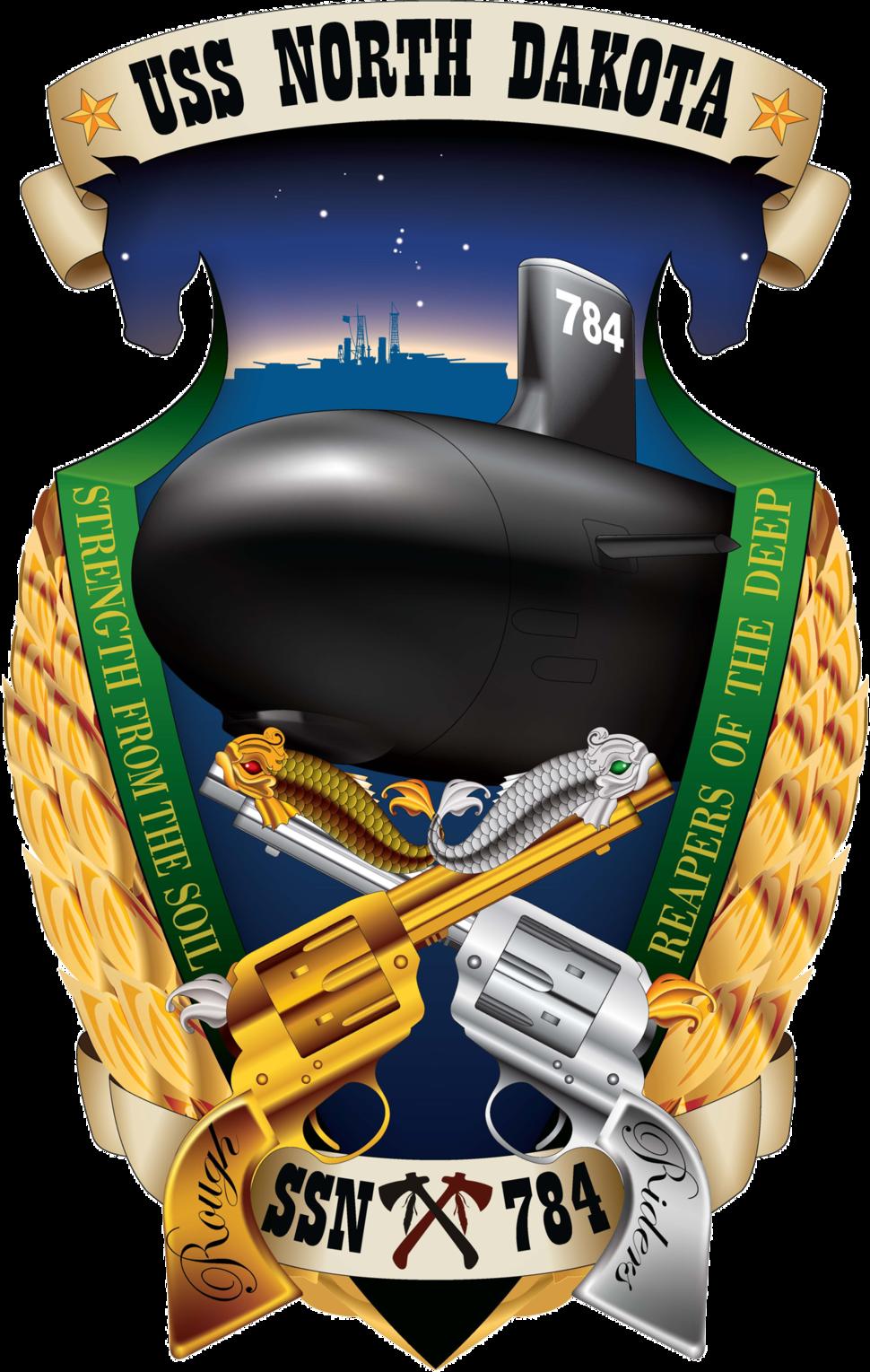 USS North Dakota (SSN-784) crest 2013