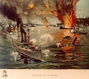 Schlacht in der Bucht von Manila am 1. Mai 1898