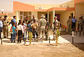 US Army 51665 Soldiers interact with children outside of a new school built in the city of Khalkalan in Kirkuk province, Iraq, during the school's opening ceremony, Sept. 14. The school can accommodate 500 children.jpg