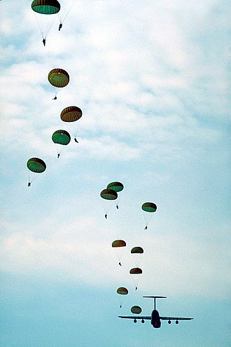 Parachute - Parachutes deploying.
