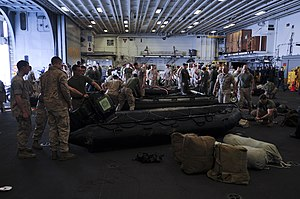 31st Marine Expeditionary Unit - US Marines assigned to the 31st MEU responding to the scene of Korean passenger ship ''Sewol'' that sank April 16, 2014