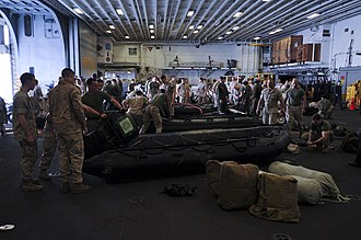 31st Marine Expeditionary Unit - US Marines assigned to the 31st MEU responding to the scene of Korean passenger ship Sewol that sank April 16, 2014