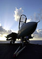 US Navy 030426-N-0295M-011 A F-14D Tomcat fades into the night as the sun sets on the Indian Ocean.jpg