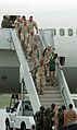 US Navy 051008-N-3541A-003 U.S. Navy Seabees assigned to Naval Mobile Construction Battalion Two Four (NMCB-24), exit their plane after landing on board Naval Air Station Oceana, Va.jpg