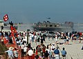 US Navy 051104-N-1810F-007 Spectators observe a Landing Craft, Air Cushion (LCAC), as it demonstrates an amphibious assault landing on Jacksonville Beach.jpg