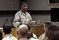 US Navy 071017-N-9643K-057 Master Chief Petty Officer of the Navy, Joe Campa, talks with Sailors during a visit to Balad Air Force Base. MCPON was traveling with the Chief of Naval Operations to various sites around Iraq to vis.jpg