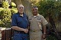 US Navy 080916-N-9818V-566 Master Chief Petty Officer of the Navy (MCPON) Joe R. Campa Jr. meets with MCPON Tom Crow, the 4th MCPON.jpg