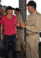 US Navy 081031-N-5516S-001 Capt. Pat Scanlon greets renowned tennis player and model Anna Kournikova.jpg
