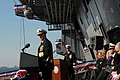 US Navy 090110-N-5735P-179 Chief of Naval Operations Adm. Gary Roughead addresses the audience attending the commissioning ceremony of USS George H.W. Bush (CVN 77).jpg