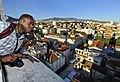 US Navy 090530-N-5345W-319 Mass Communication Specialist Seaman Ash Severe looks out over the city of Split, Croatia, from atop the St. Domnius bell tower.jpg